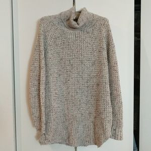 Free People Oversized Tunic Turtleneck Sweater